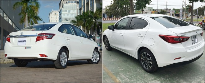 So sánh Mazda 2 và Vios 2020