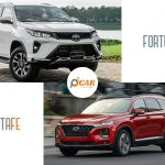 so sanh xe fortuner va santafe