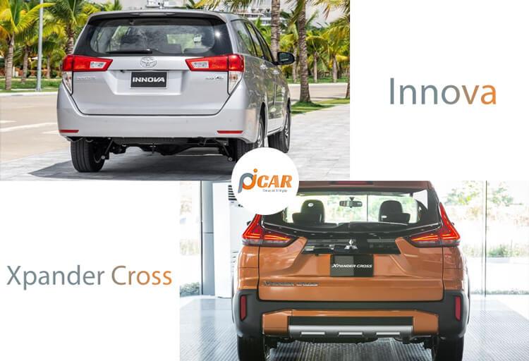 So sanh Xpander voi Innova ve duoi xe