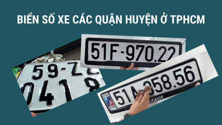 Biển số xe các quận trên địa bàn thành phố Hồ Chí Minh