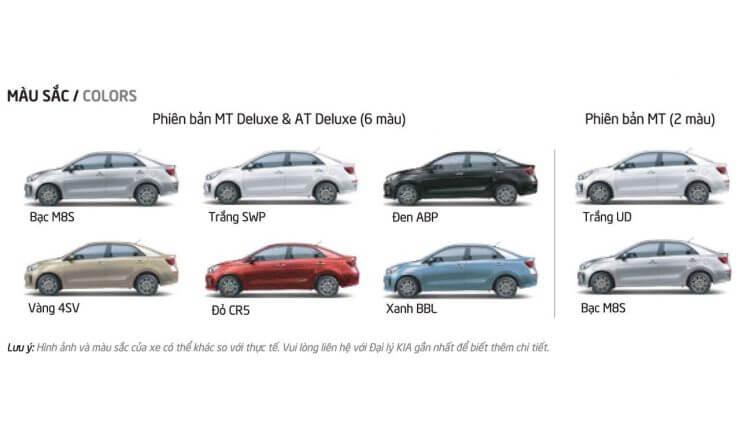 Đánh giá xe Kia Soluto 2020 màu sắc