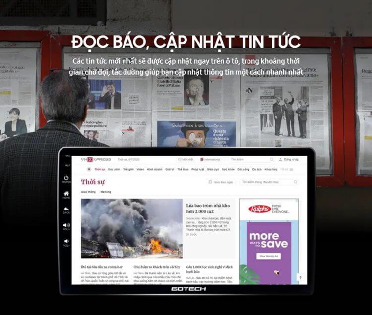 nhiều ứng dụng giải trí trên màn hình andoid ô tô thông minh
