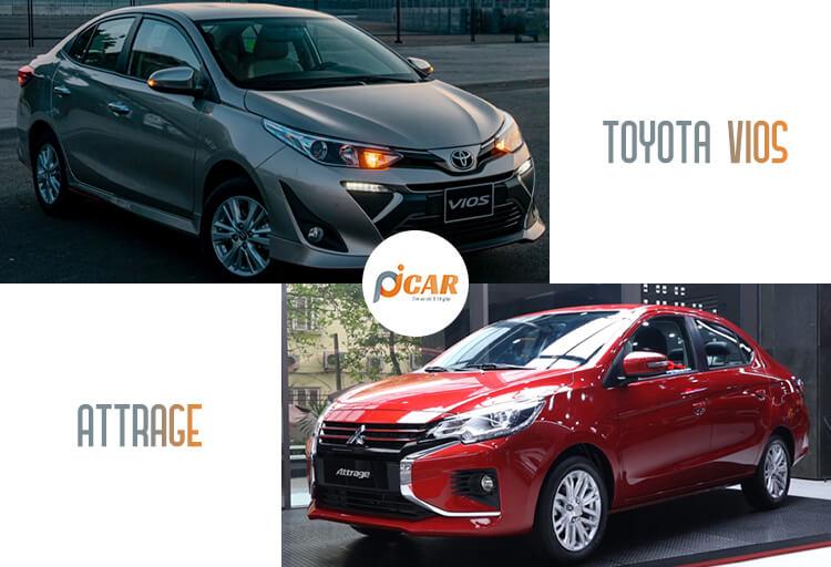 so sanh xe Toyota Vios và Mitsubishi Attrage