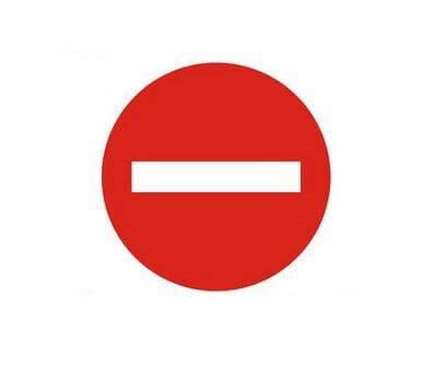 biển báo cấm đường 1 chiều 102