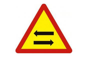 Biển báo giao nhau với đường 2 chiều W. 234