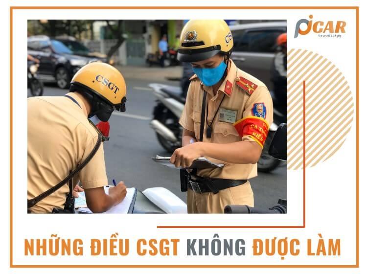 Những điều cảnh sát giao thông không được làm theo quy định của Bộ Công An
