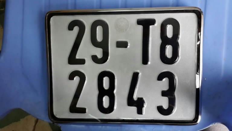 Biển số xe các quận Hà Nội 4 số